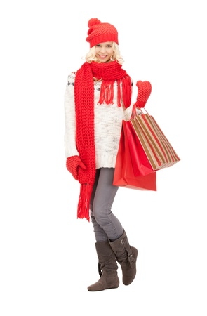 picture of lovely woman with shopping bags Stock Photo - 10823322