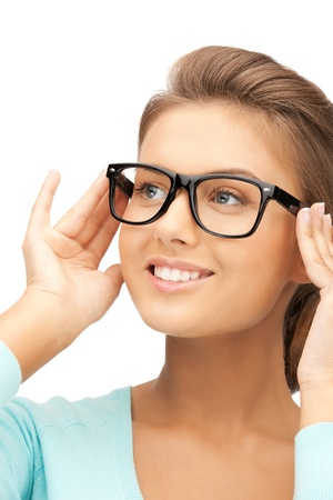 spec: closeup picture of lovely woman in spectacles