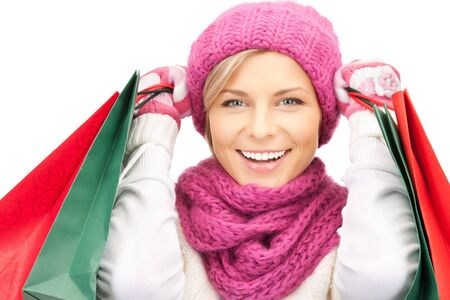 picture of lovely woman with shopping bags Stock Photo - 10930544