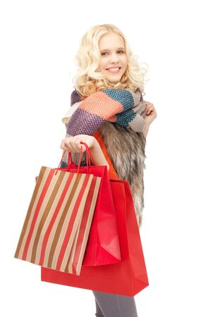 picture of lovely woman with shopping bags Stock Photo - 10930593