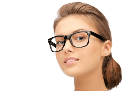 closeup picture of lovely woman in spectacles Stock Photo - 11022826