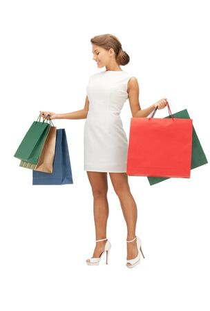 picture of lovely woman with shopping bags Stock Photo - 11022825