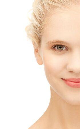 heldere close-up portret foto van mooie vrouw