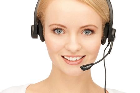 bright picture of friendly female helpline operator Stock Photo - 11329258