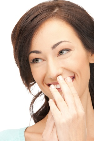 bright closeup picture of beautiful laughing woman. Stock Photo - 11329238