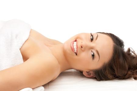 Aging woman: picture of beautiful woman beautiful woman in spa salon