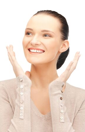 bright picture of happy woman with expression of surprise Stock Photo - 11329109
