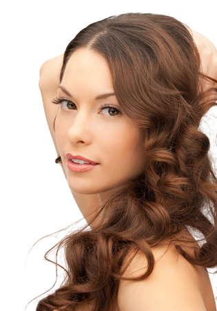 schöne frauen: closeup Porträt Bild der schönen Frau