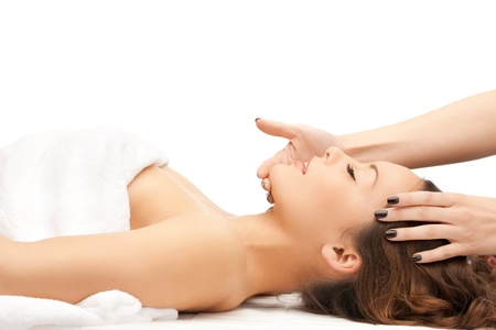 beauty treatment clinic: picture of beautiful woman in massage salon