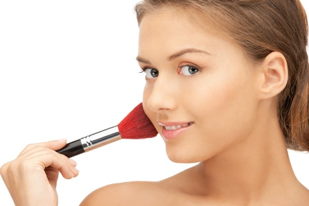 bright closeup portrait picture of beautiful woman with brush Stock Photo - 11508267