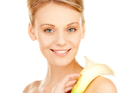 pic: picture of beautiful woman with calla flower
