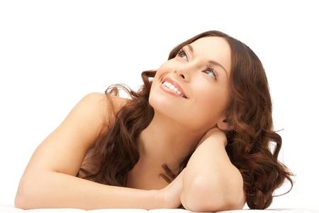 aging skin: picture of beautiful woman beautiful woman in spa salon