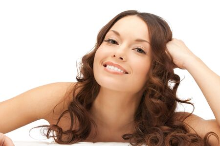 anti aging: picture of beautiful woman beautiful woman in spa salon