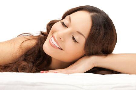 mooie vrouwen: foto van mooie vrouw mooie vrouw in spa salon Stockfoto