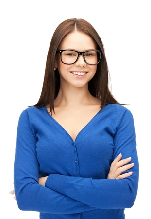 bright picture of happy and smiling woman photo