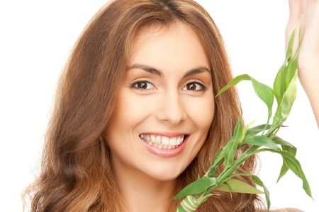 graft: closeup picture of woman with green sprout