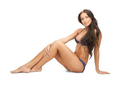 releaxed: bright picture of beautiful woman in bikini