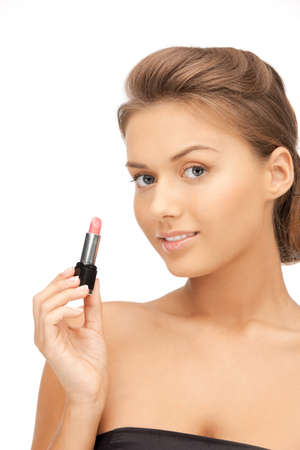 bright closeup portrait picture of beautiful woman with lipstick Stock Photo - 12179336
