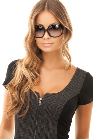 alluring: bright picture of lovely woman in shades