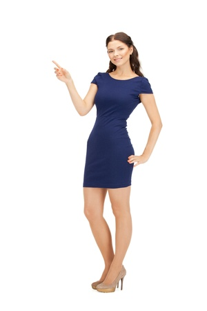 gorgeous businesswoman: picture of attractive businesswoman pointing her finger