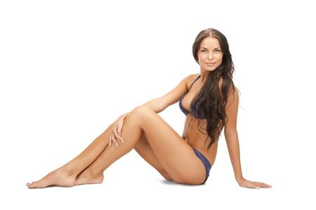 tan woman: bright picture of beautiful woman in bikini