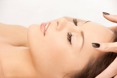 picture of beautiful woman in massage salon Stock Photo - 12362173