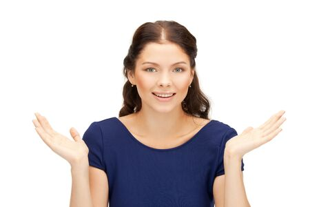 bright picture of happy woman with expression of surprise Stock Photo - 12362313