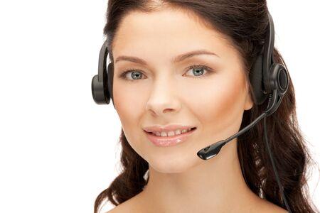 bright picture of friendly female helpline operator Stock Photo - 12376408
