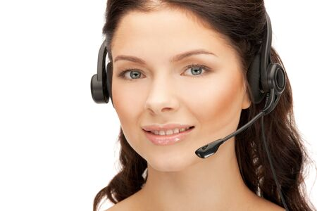 bright picture of friendly female helpline operator Stock Photo - 12376408