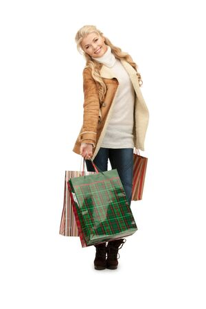 picture of lovely woman with shopping bags. Stock Photo - 12367420