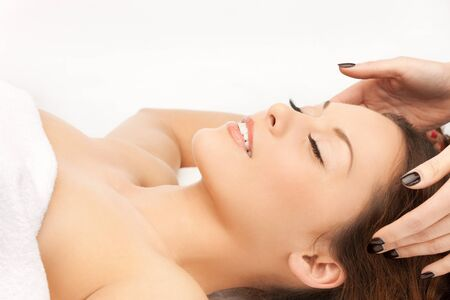 pampered: picture of beautiful woman in massage salon