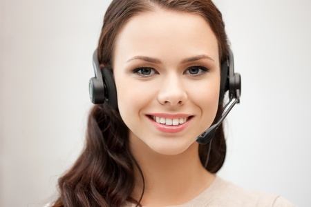 bright picture of friendly female helpline operator Stock Photo - 12630029