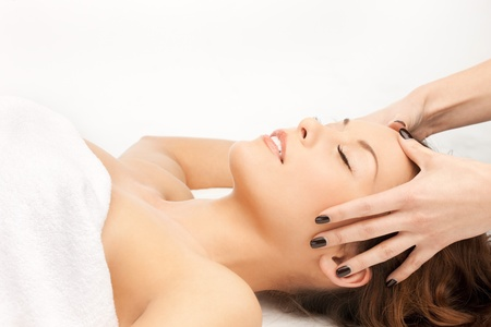 beauty parlor: picture of beautiful woman in massage salon