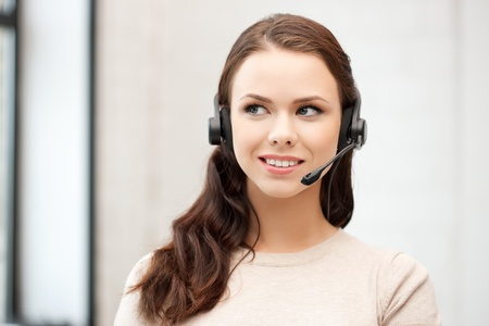 bright picture of friendly female helpline operator Stock Photo - 12658672