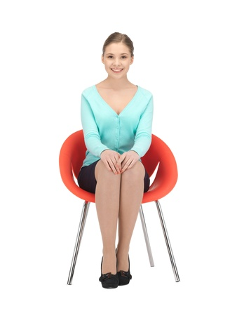 picture of young businesswoman sitting in chair Stock Photo - 12683195