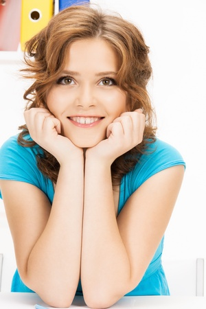 bright picture of happy and smiling woman Stock Photo - 12838479
