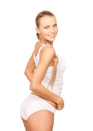 bragas: Foto de mujer hermosa en undrewear de algodón