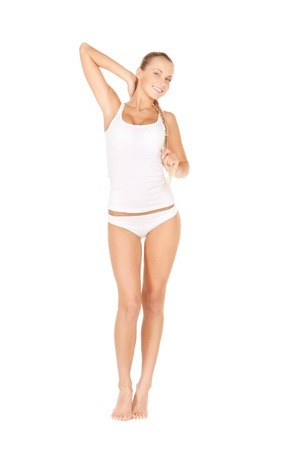 picture of beautiful woman in cotton undrewear Stock Photo - 12883772