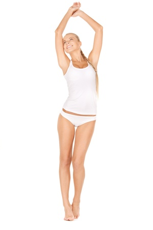 picture of beautiful woman in cotton undrewear Stock Photo - 12970914
