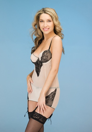 picture of seductive woman in sexy lingerie Stock Photo - 12971294