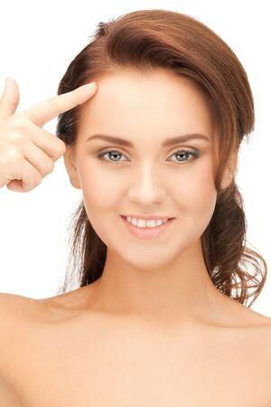 bright closeup portrait picture of beautiful woman Stock Photo - 12971357