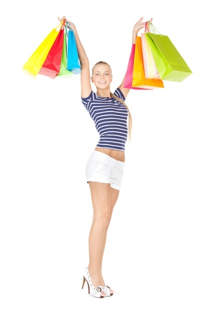 picture of lovely woman with shopping bags Stock Photo - 12971316