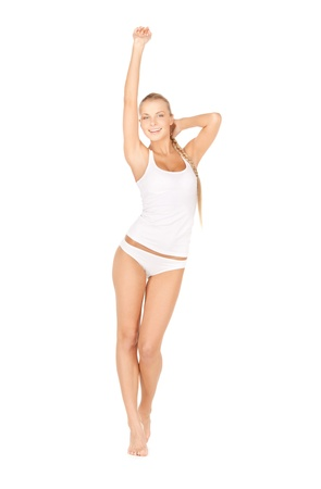 picture of beautiful woman in cotton undrewear Stock Photo - 12971312