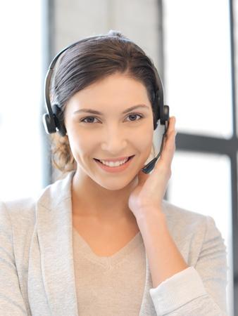 bright picture of friendly female helpline operator Stock Photo - 16482573