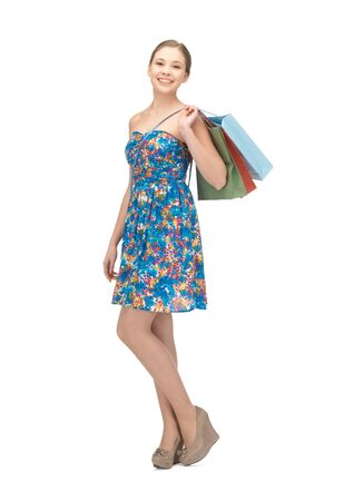 picture of teenage girl with shopping bags Stock Photo - 16345616