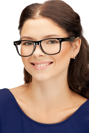 young girl smiling: bright picture of happy and smiling woman