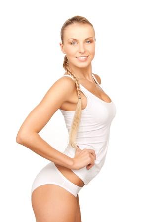 immagine della bella donna in cotone undrewear