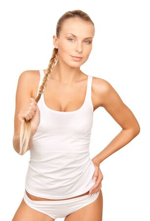 picture of beautiful woman in cotton undrewear Stock Photo - 13168170