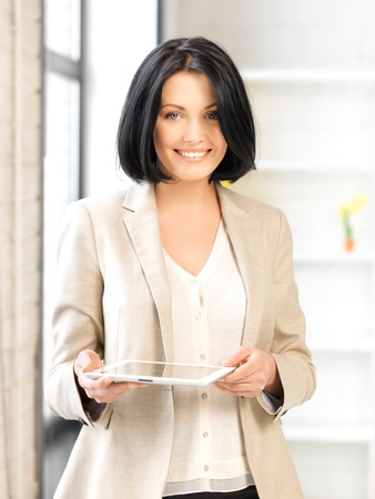 picture of happy woman with tablet pc computer Stock Photo - 13401506