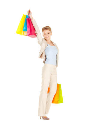picture of lovely woman with shopping bags Stock Photo - 13399085